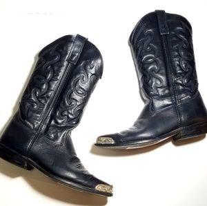 Capezio Vintage Leather Black Boots